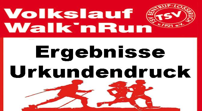 Walk'nRun – Ergebnisse – Urkundendruck